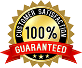 100 percent customer satisfaction seal