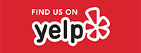find us on yelp button