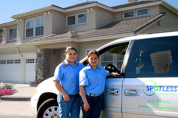 spotless cleaning service staff home exterior marin county