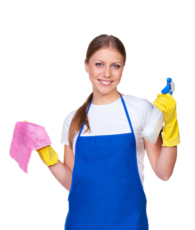 house cleaning worker with apron